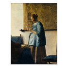 Vermeer's Woman in Blue Reading a Letter ca.1665 Postcard