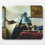 Vermeer's Young Woman with a Water Pitcher ca 1665 Mouse Mats