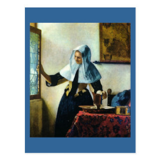 Vermeer's Young Woman with a Water Pitcher ca 1665 Postcard