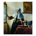 Vermeer's Young Woman with a Water Pitcher ca 1665 Print