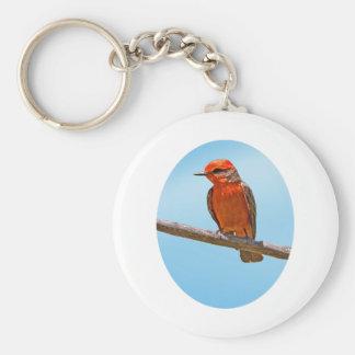Vermilion Flycatcher Basic Round Button Key Ring