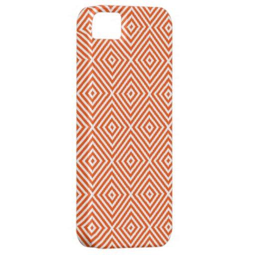 Vermilion Red White Diamond Pattern iPhone 5 Case