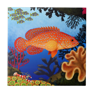 Vermilion Sea Bass Miniatus Grouper Tile