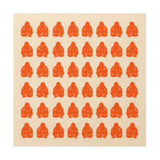 Vermillion Asian Moods Buddah Boys Wood Wall Art
