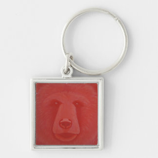 Vermillion Bear Keychain