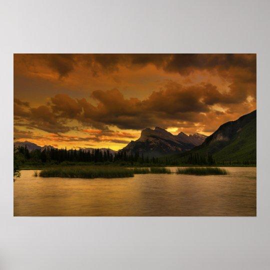 Vermillion Lakes Sunset Poster