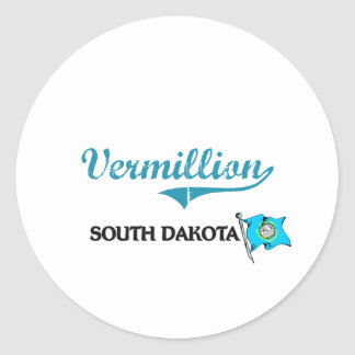 Vermillion South Dakota City Classic Round Stickers