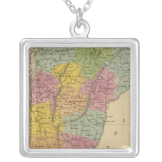 Vermont 3 silver plated necklace