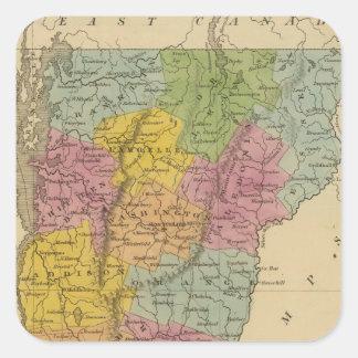 Vermont 3 square sticker