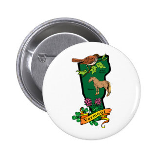 Vermont 6 Cm Round Badge