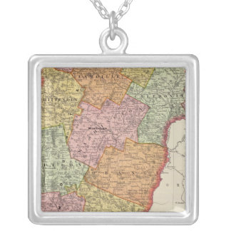 Vermont 8 silver plated necklace