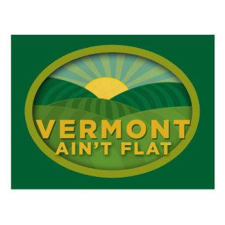 Vermont Ain t Flat Postcard