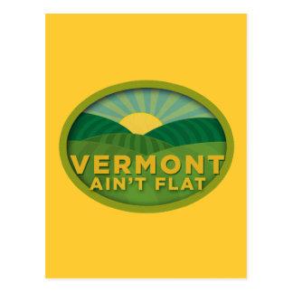 Vermont Ain't Flat Postcard