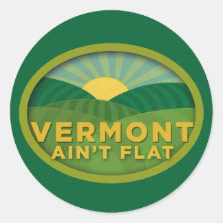 Vermont Ain't Flat Round Sticker