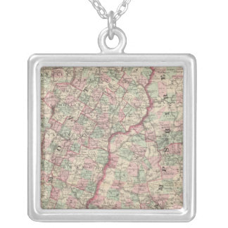 Vermont and New Hampshire 2 Silver Plated Necklace