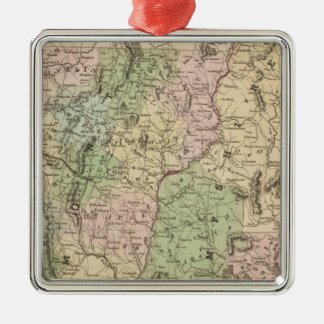 Vermont and New Hampshire Christmas Ornament