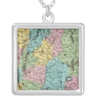 Vermont And New Hampshire Silver Plated Necklace