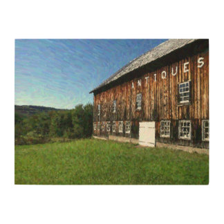 Vermont Antiques on a Perfect Day Wood Prints