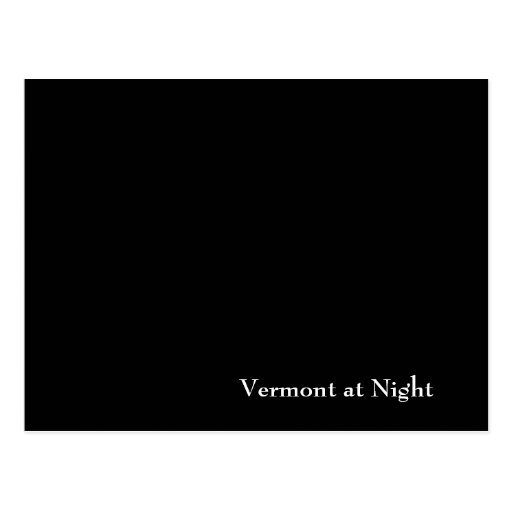 Vermont at Night Postcards