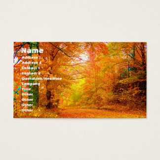 Vermont Autumn Nature Landscape Business Card