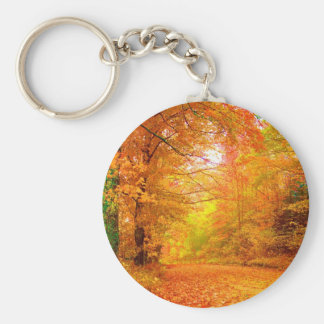 Vermont Autumn Nature Landscape Key Ring