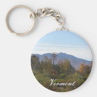 Vermont Basic Round Button Key Ring