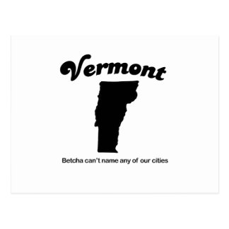 Vermont - Betcha cant name our cities Postcards