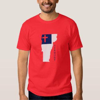 Vermont Christian Flag T Shirt