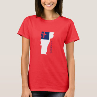 Vermont Christian Flag T-Shirt