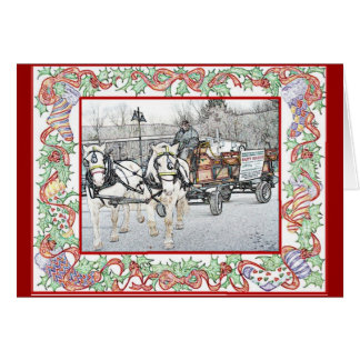 Vermont Christmas Rides Card