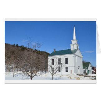 Vermont Church. Card