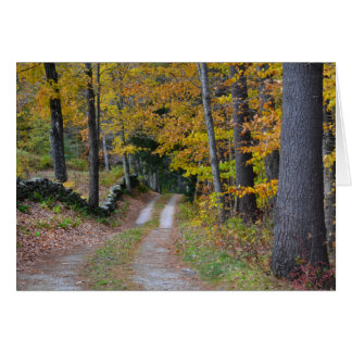 Vermont Country Path Note Card