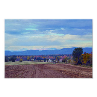 Vermont Countryside in Autumn Poster