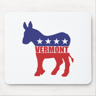 Vermont Democrat Donkey Mouse Pads