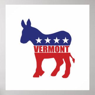 Vermont Democrat Donkey Poster