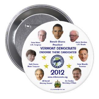 Vermont Democrats in 2012 button