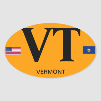 Vermont* Euro-style Oval Sticker