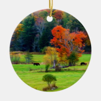 Vermont Fall Christmas Ornament