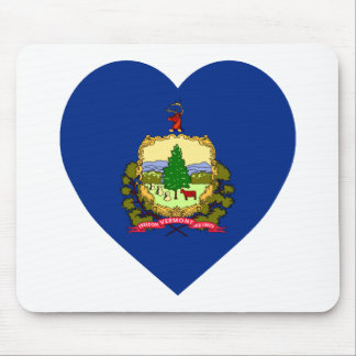 Vermont Flag Heart Mouse Pad