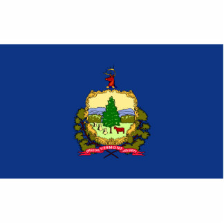 Vermont Flag Keychain Cut Out