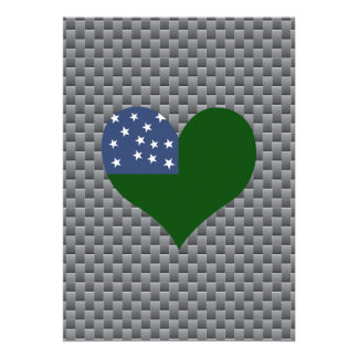 """Vermont Flag on a cloudy background 5"""" X 7"""" Invitation Card"""