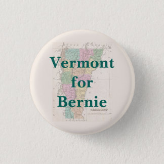 Vermont for Bernie 2016 3 Cm Round Badge