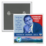 Vermont for Obama 2012 Button