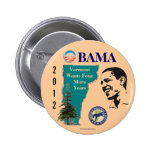 Vermont for Obama 2012 political pinback button