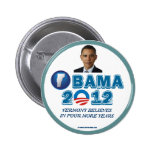 VERMONT FOR OBAMA 2012 Vermont Believes Pinback Button