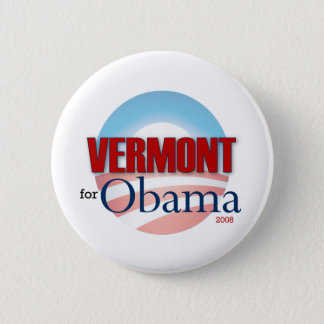 VERMONT for Obama 6 Cm Round Badge