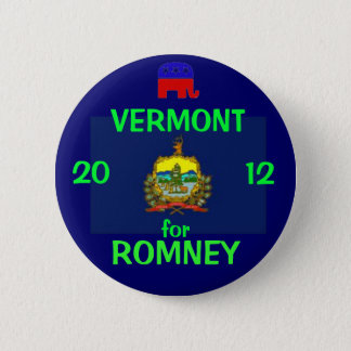 Vermont for Romney 2012 6 Cm Round Badge