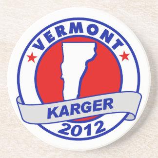 Vermont Fred Karger Drink Coaster
