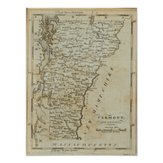 Vermont, from actual Survey Print
