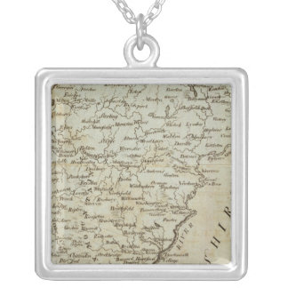 Vermont, from actual Survey Silver Plated Necklace
